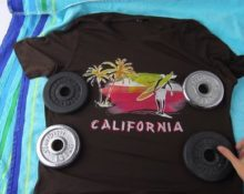 Растягивание футболки