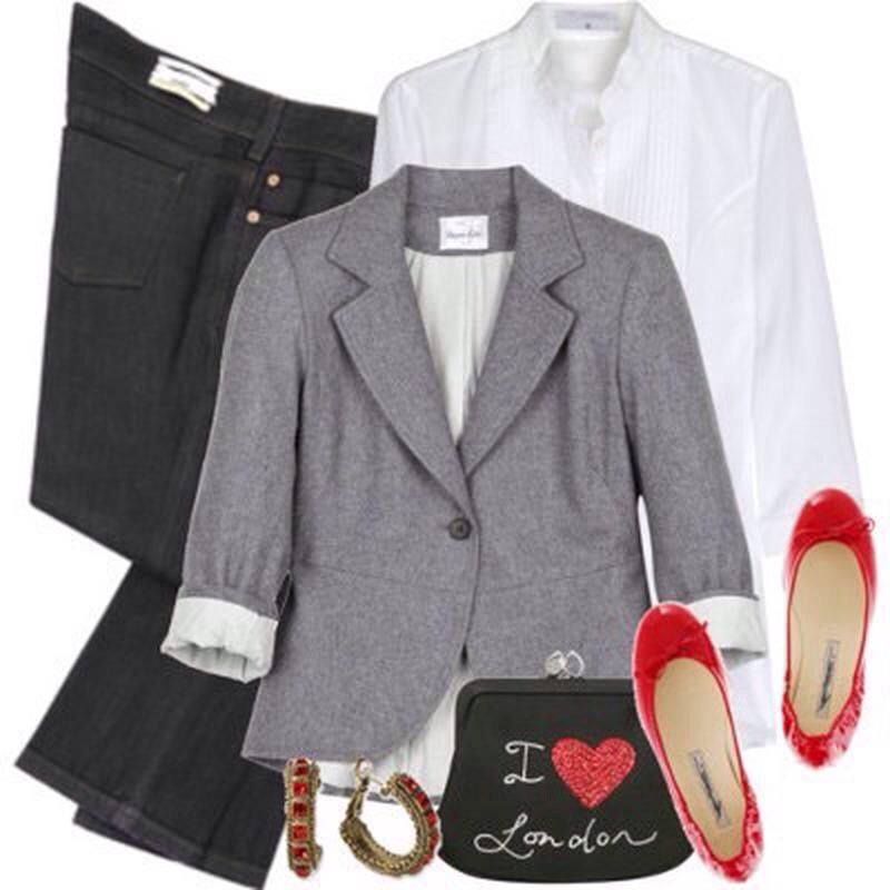 Серый жакет как базовая часть гардероба, с чем носить