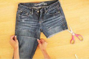 Как правильно обрезать брюки для переделки в шорты