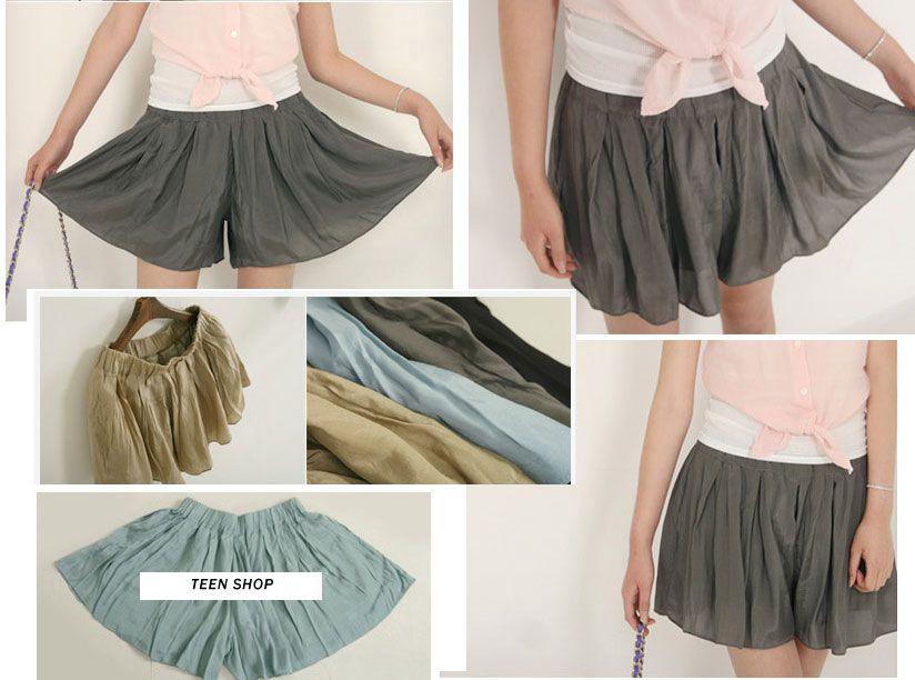 Как сшить шорты из юбки