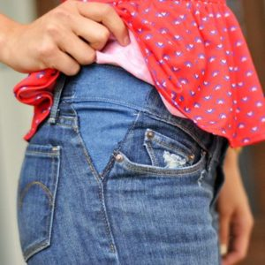 Шорты со вставкой для беременных
