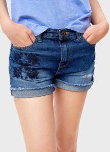 Джинсовые шорты с подвернутым необработанным краем