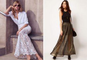 Длинные кружевные юбки