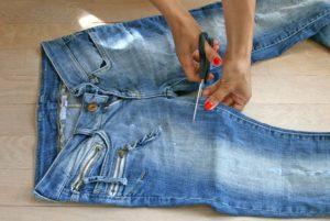 Шорты из джинс