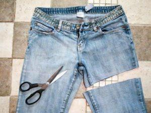 Шорты из джинсов