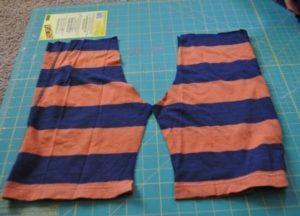 Старые шорты вместо выкройки