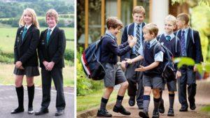 английские школьники в шортах