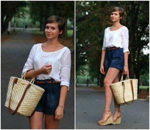 джинсовые шорты и сумки