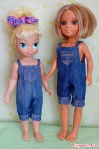 как сшить комбинезон для куклы