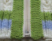 Молния в вязаной кофте