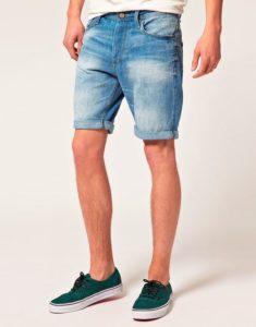 джинсовые шорты и обувь для мужчины