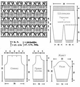 схема комбинезона крючком
