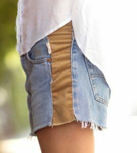 шорты с тканью