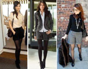 шорты и колготки - разный стиль