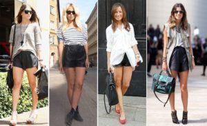 шорты с высокой талией и длинная рубаха