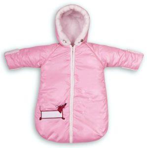 Комбинезон для новорожденного розовый