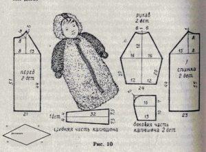 Выкройка комбинезона для новорожденного
