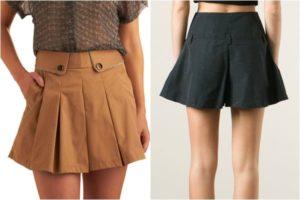 юбка-шорты со складками
