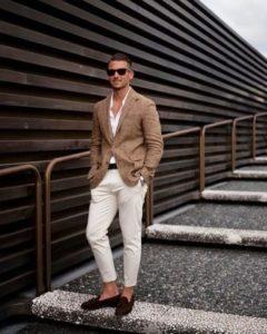 Обувь под мужской коричневый пиджак