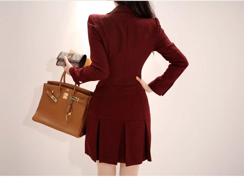 С чем сочетается платье-пиджак 3