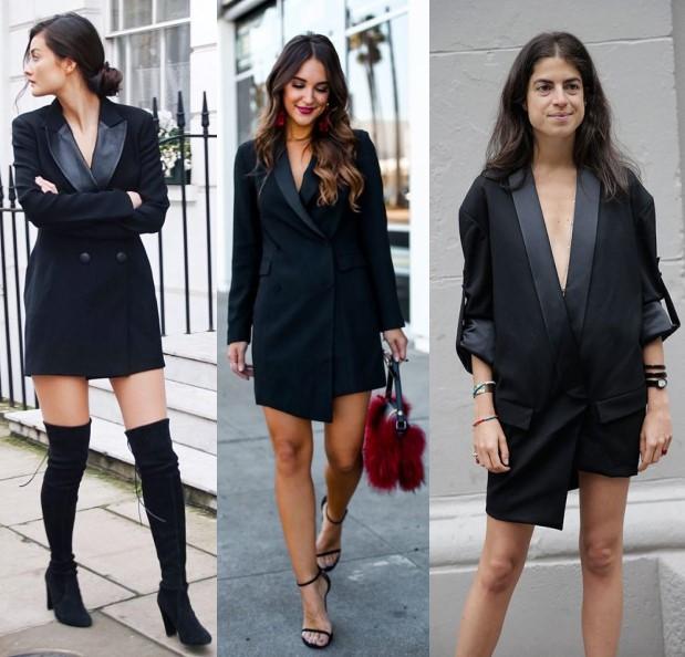 С чем сочетается платье-пиджак