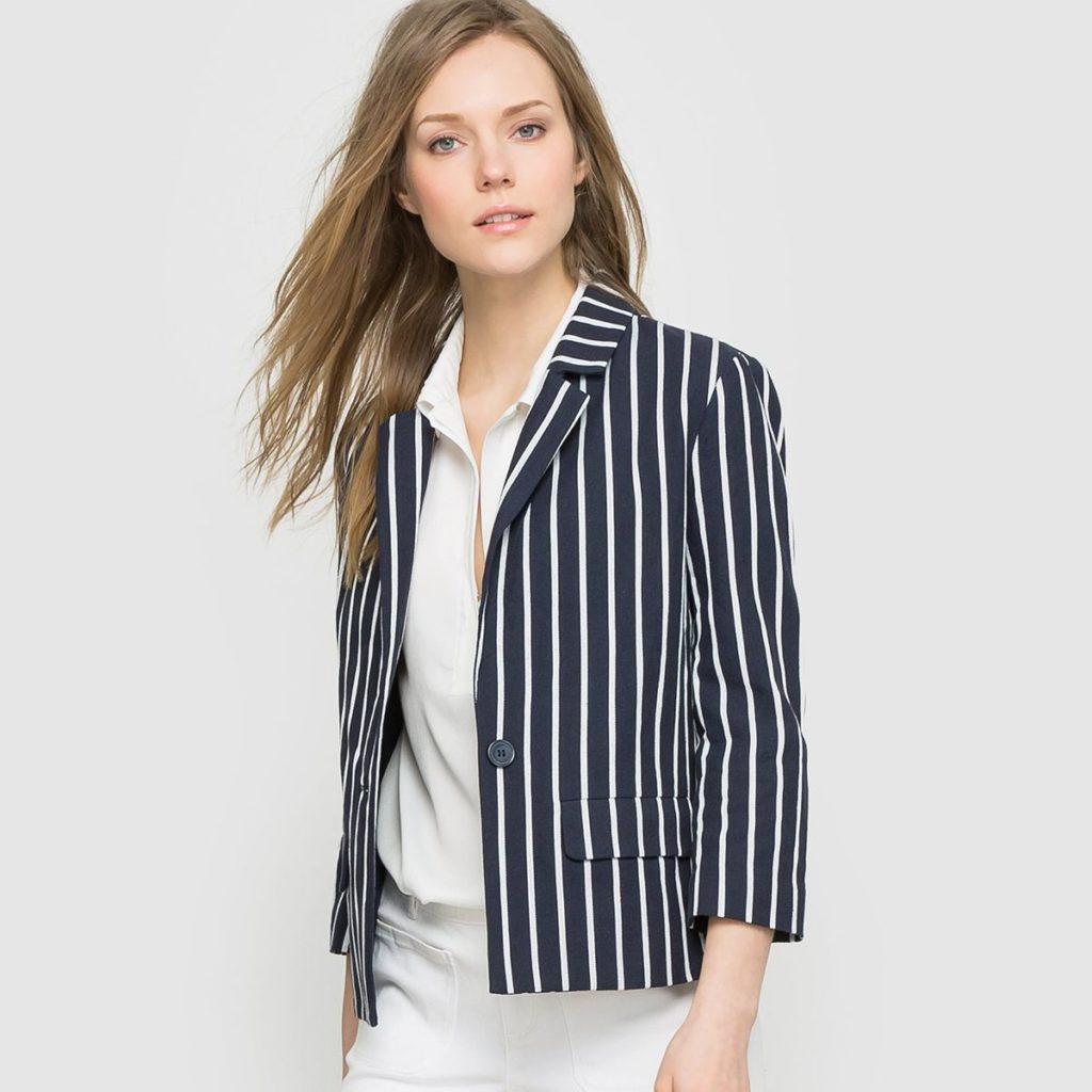 Полосатый пиджак с белым