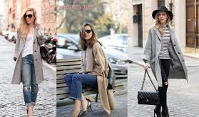 Джинсы и женское пальто оверсайз