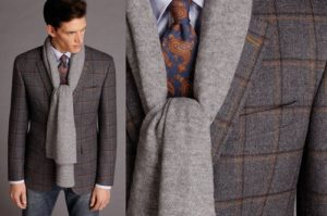 Мужской твидовый пиджак и рубашка