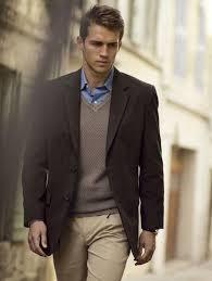 Мужской твидовый пиджак и свитер