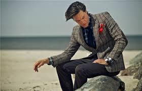Мужской твидовый пиджак с заплатками на локтях