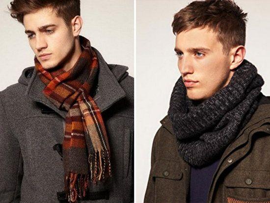 Стиль мужского шарфа