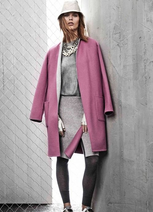 Пальто без воротника