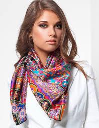 Платок на шею вместо шарфа