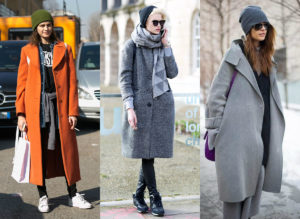 Повседневные образы с пальто оверсайз