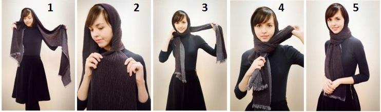 Завязать шарф