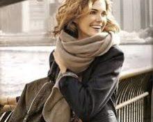 Широкий шарф