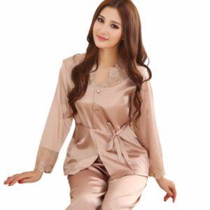 Шёлковая пижама со штанами