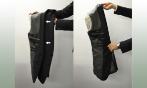 Складываем верхнюю одежду в чемодан