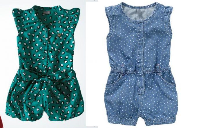 Комбинезон с шортами для девочки