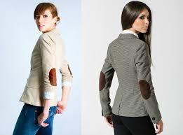 Женский твидовый пиджак с заплаткаи на локтях