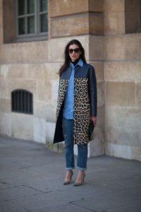 пальто со звериным принтом