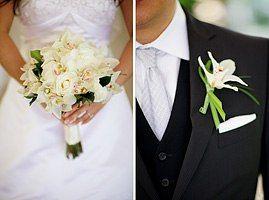 Бутоньерка из букета невесты