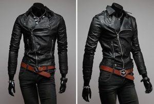 с чем носить черную кожаную куртку