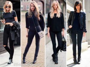 с чем носить черный джемпер