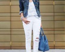 джинсовый пиджак сочетания стиля