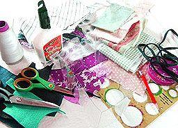 Материалы и инструменты для шитья снуда