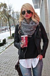 Уличный стиль с курткой косухой