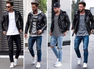 Как носить куртку-косуху мужчине