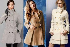 Женское пальто в разных вариантах