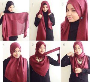 Хиджаб с креплением по бокам